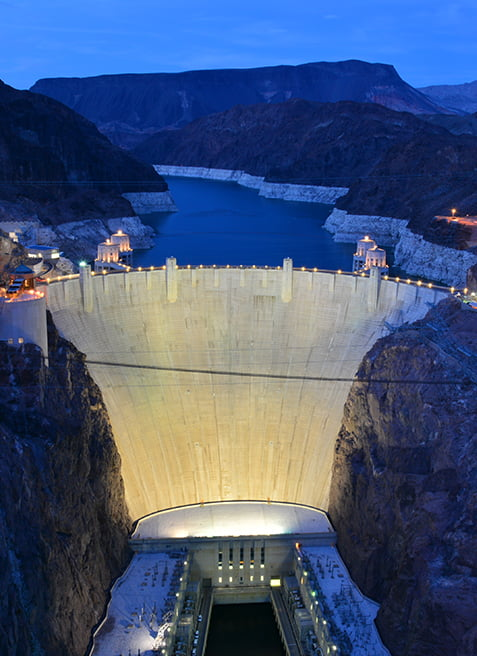Located In Black Canyon Along The Colorado River And Just 30 Miles Southeast Of Las Vegas Hoover Dam Is A Magnificent Nevada
